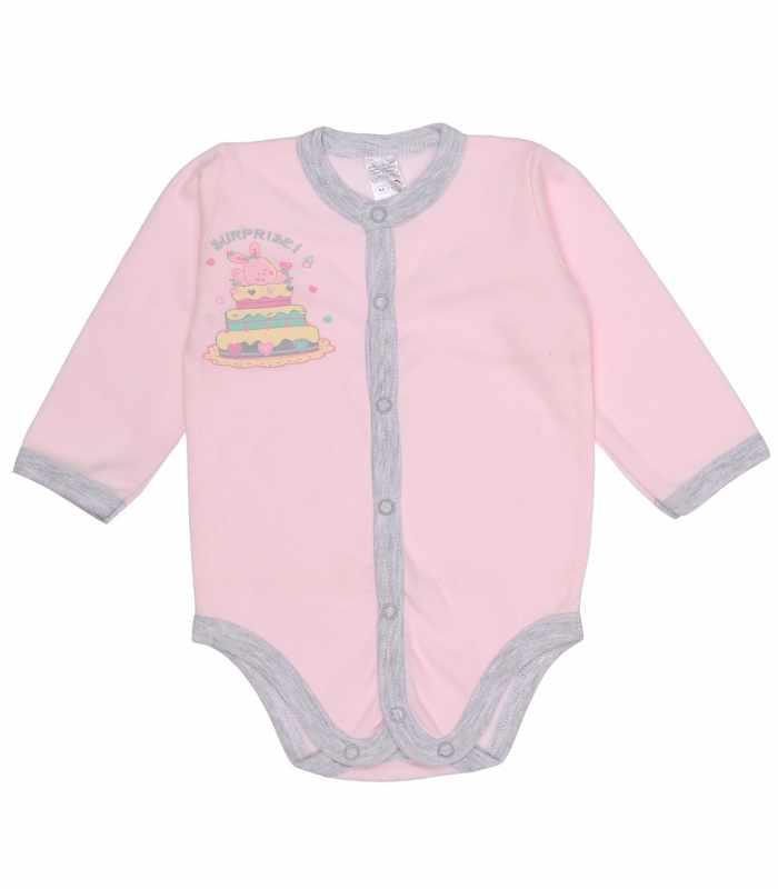 Боди для малышей розовый с аппликацией