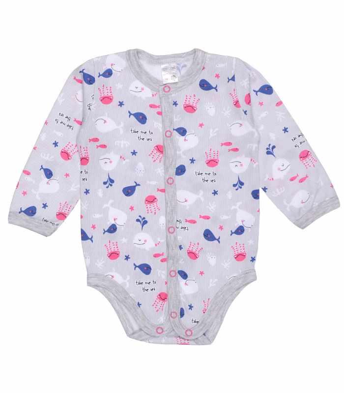 Боди для малышей Кит розовый