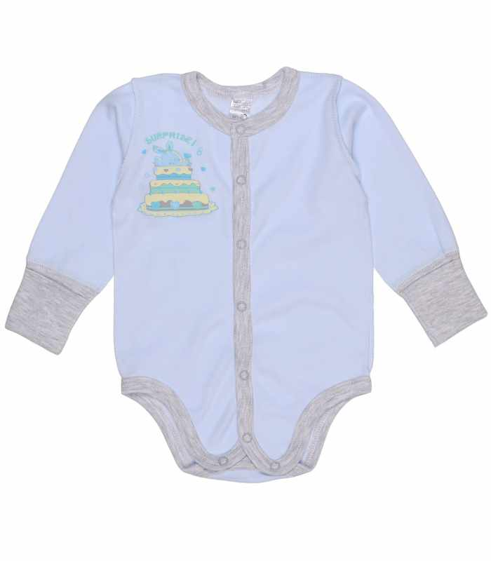 Боди для новорожденных голубой М