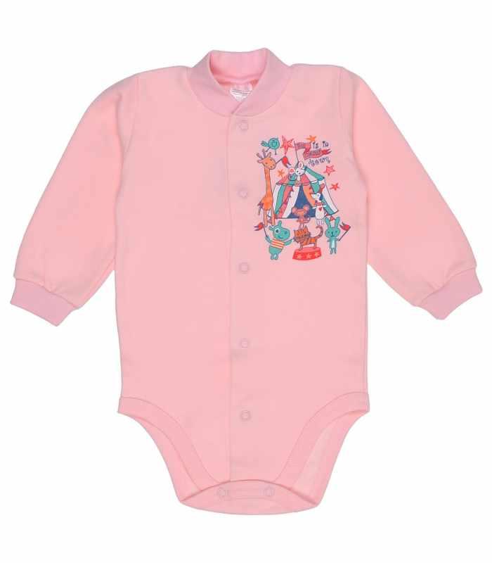 Боди утепленный 62-86 рост ск Цирк розовый