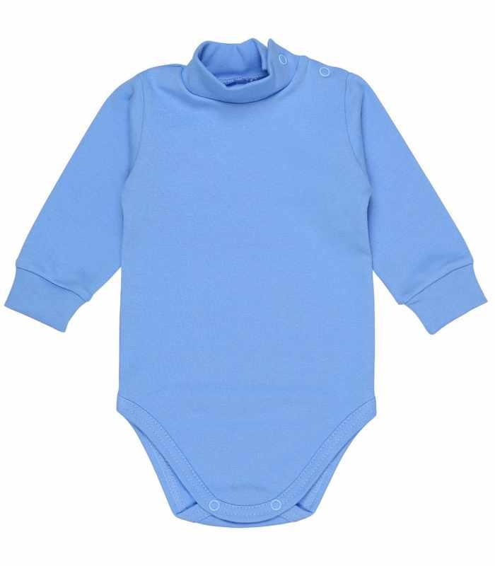 Детский боди-гольф утепленный 68-86 рост голубой