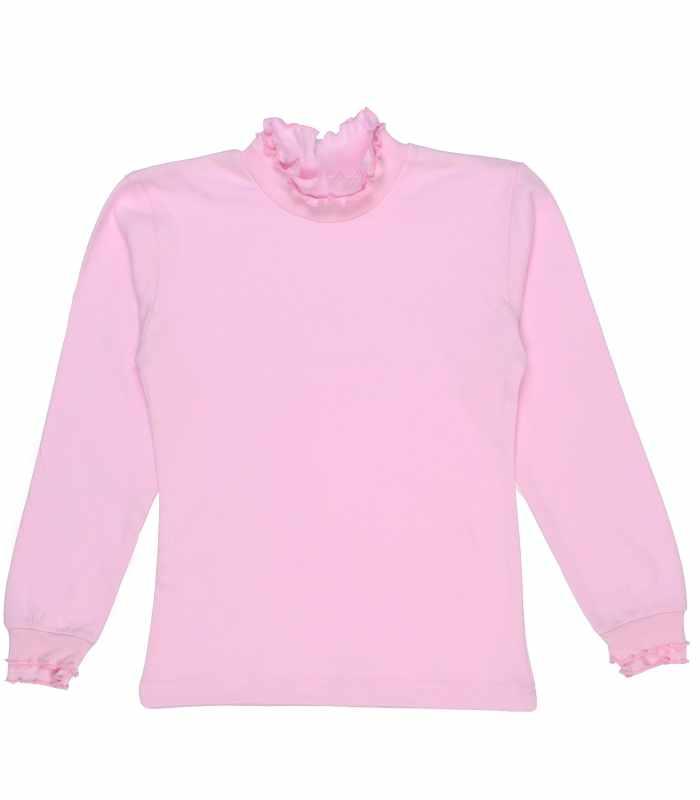 Гольф с оборками розовый