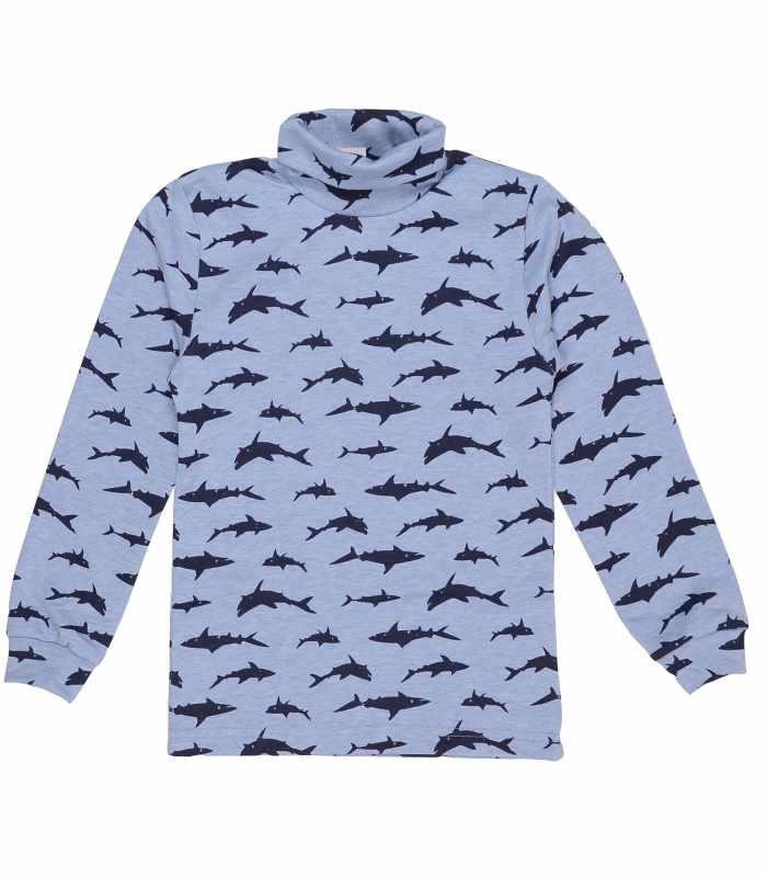 Гольф утепленный с подчесом Акулы голубой