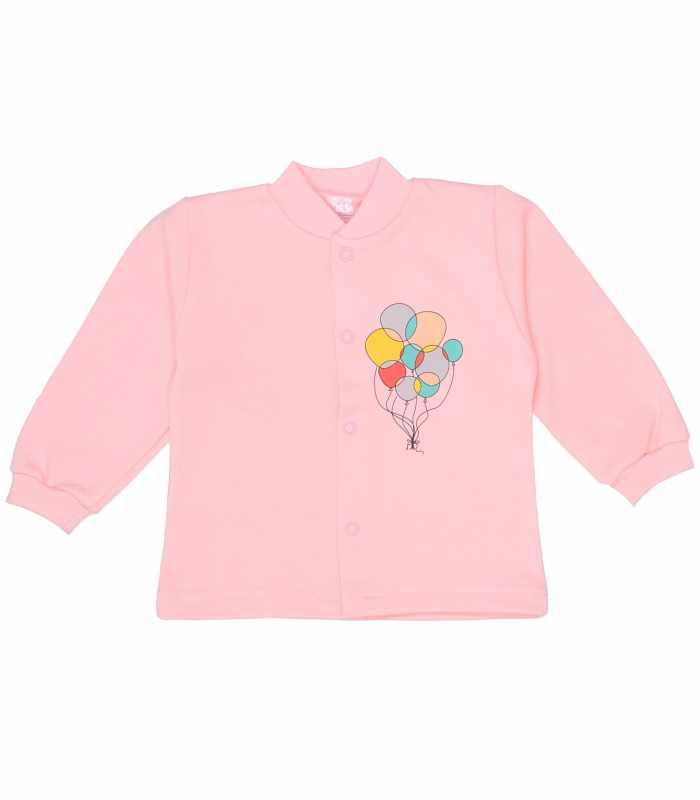Кофточка утепленная шарики розовый