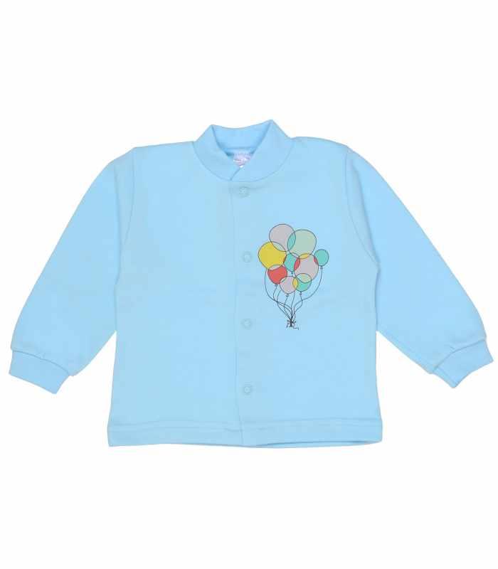 Кофточка утепленная шарики голубой