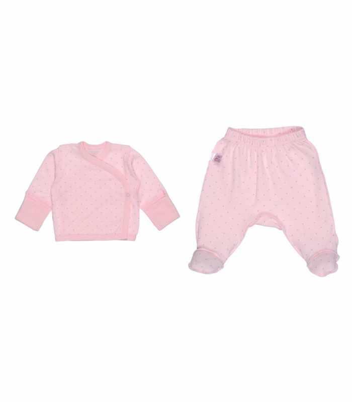Комплект распашонка-ползунки Крапинка розовый М