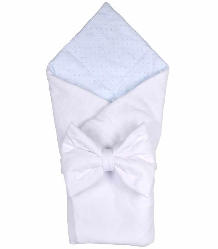 Детский конверт одеяло голубой