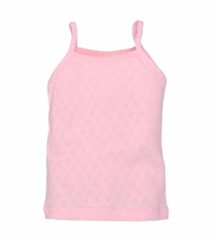 Майка с тонкими брительками ажур розовый