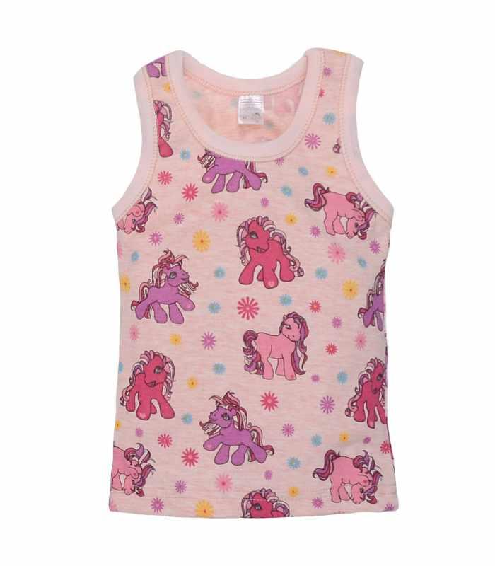 майка для девочек лошадки роз