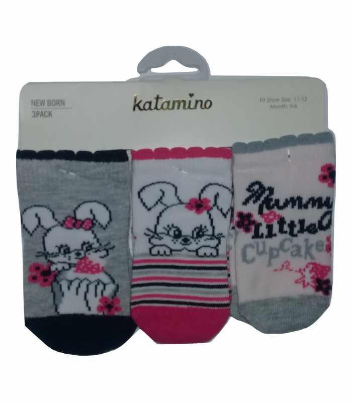 Демисезонные детские носки 0-6мес Зайчиха