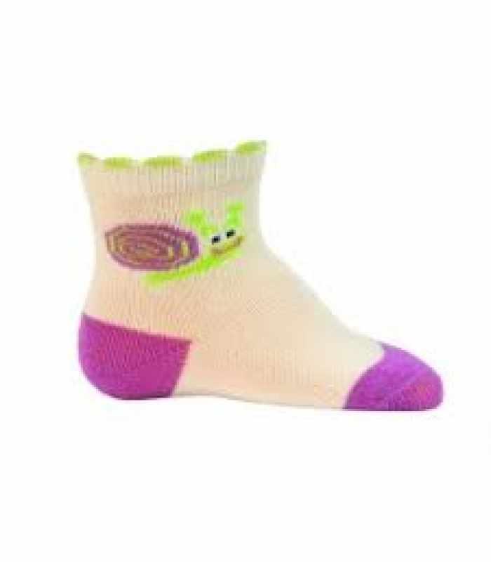 Демисезонные детские носки 6-12 месяцев 10-12 см Улитка