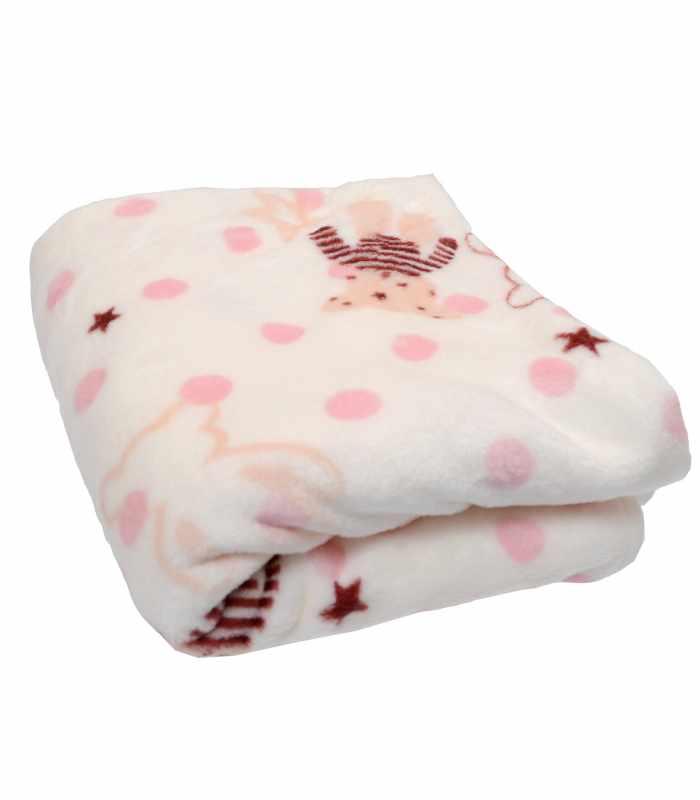 Одеяло велсофт медведь розовый