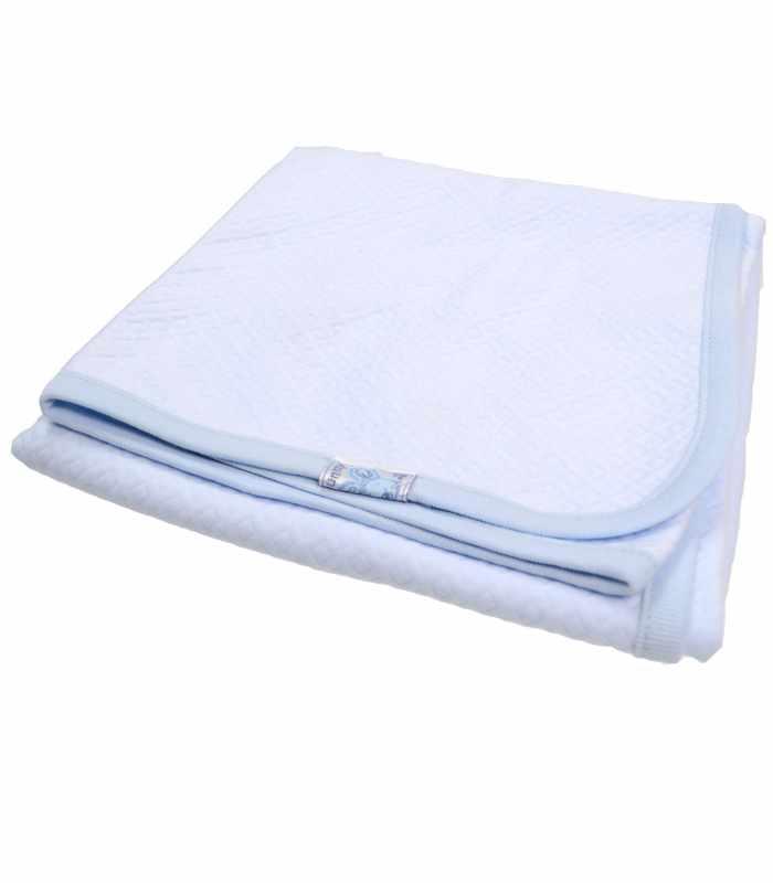 Одеяло капитон Голубой