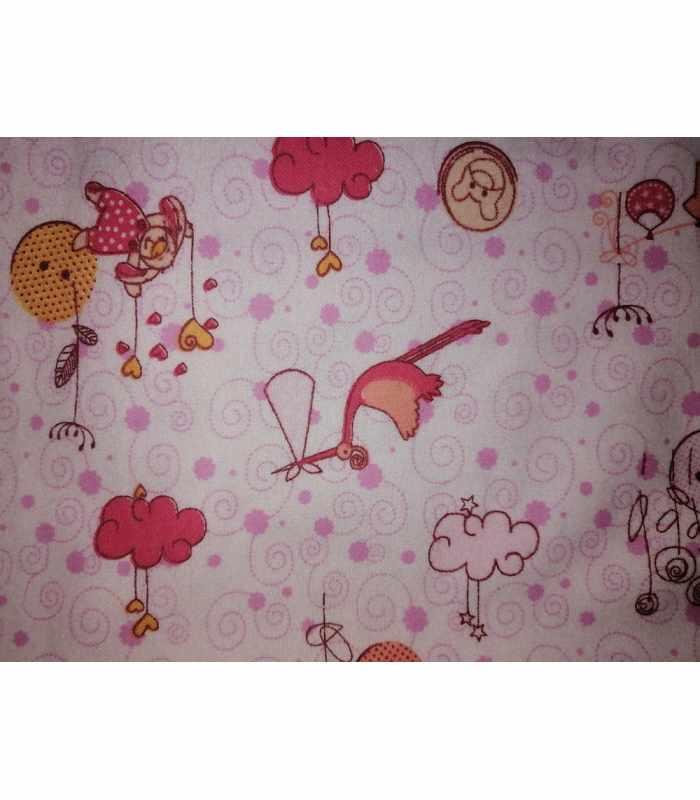 Пеленка байка аист Розовый