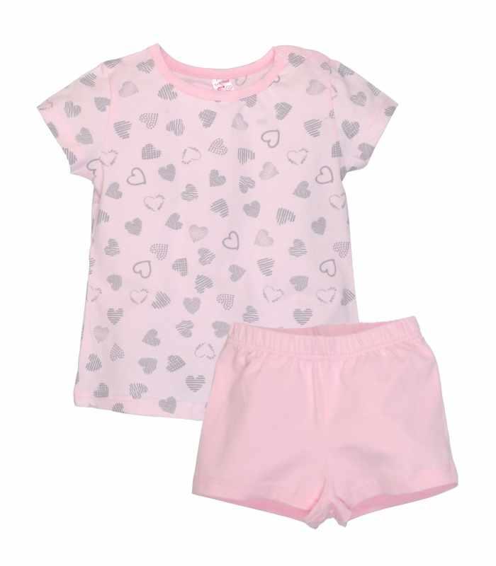 Пижама легкая Сердечки розовый