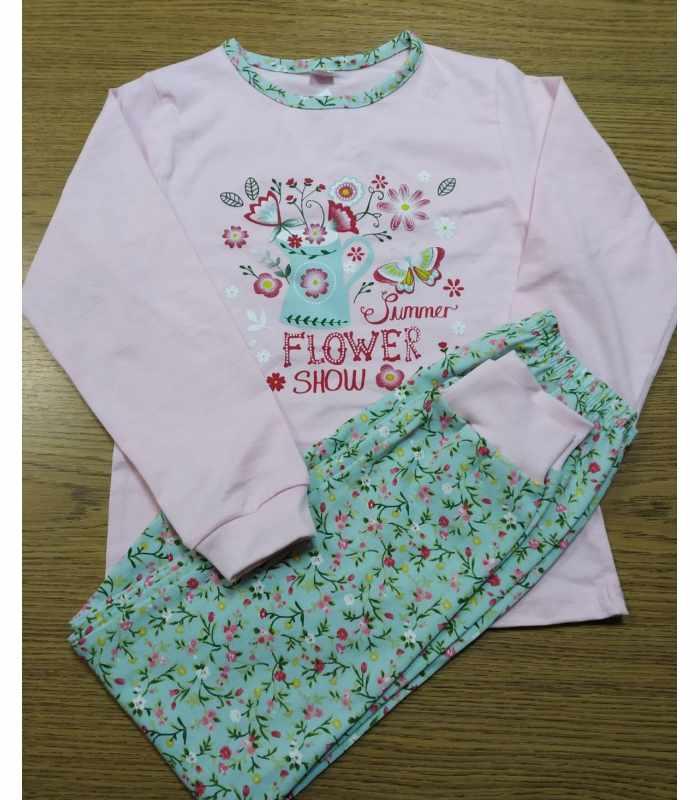 Пижама легка Цветочки розовый