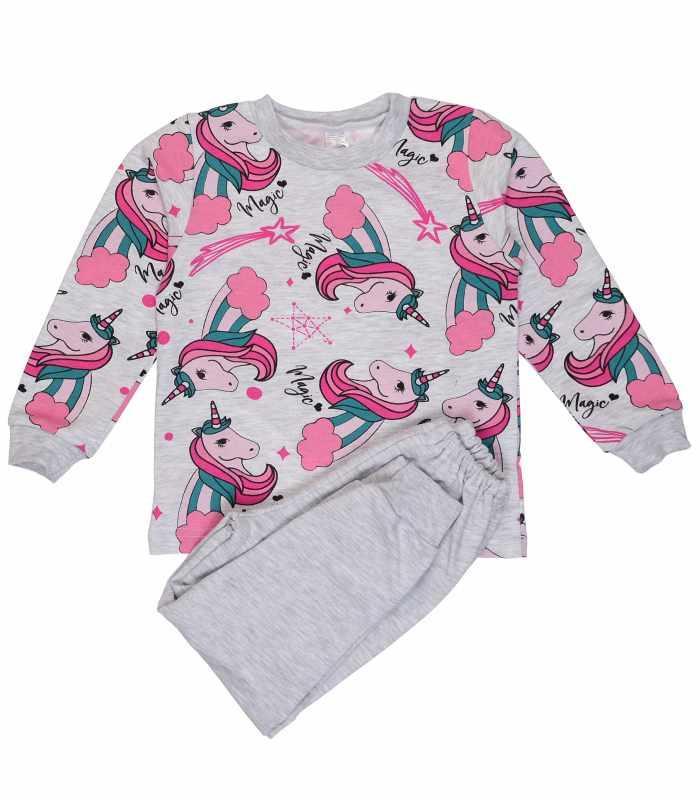 Детская пижама утепленная Единорожки меланж