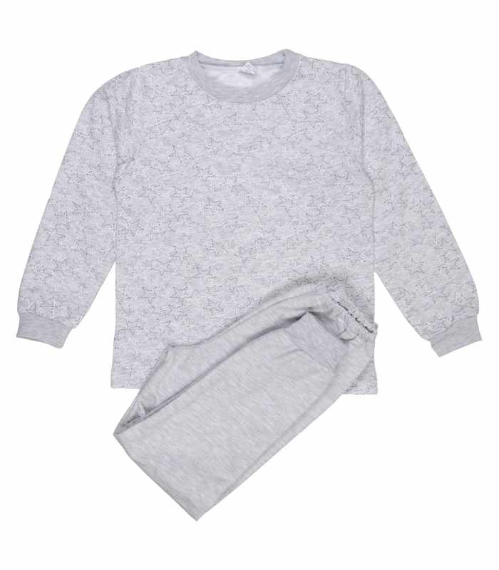Детская пижама утепленная Звезды меланж