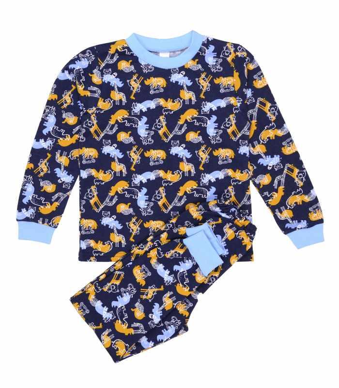 Детская пижама утепленная Носороги