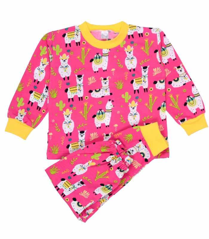 Детская пижама утепленная Лама