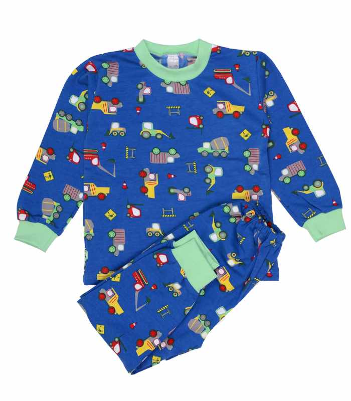 Детская пижама утепленная Грузовики