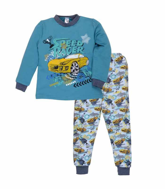 Детская пижама утепленная рейсер бирюза