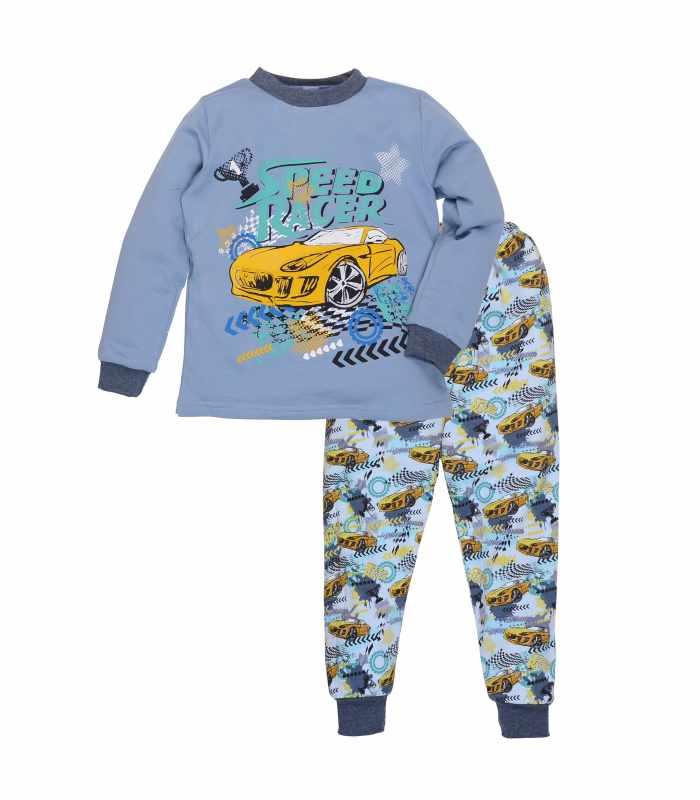Детская пижама утепленная рейсер голубой