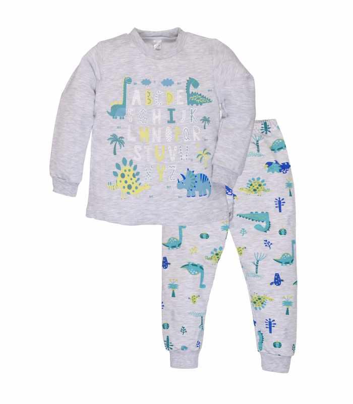 Детская пижама утепленная дино меланж