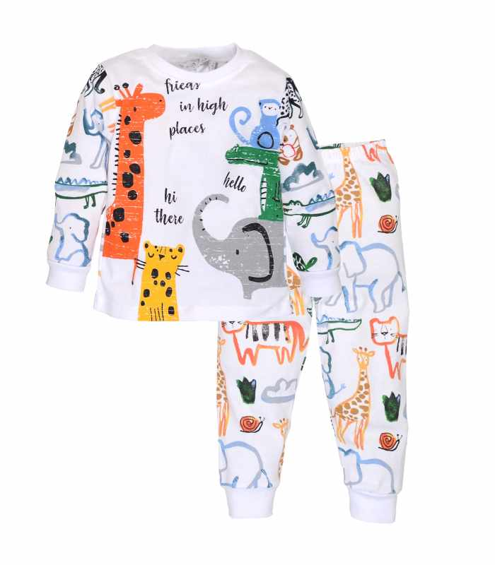 Пижама Животные акварель