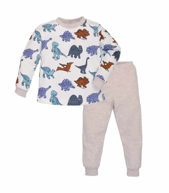 Пижама плотная Дино беж