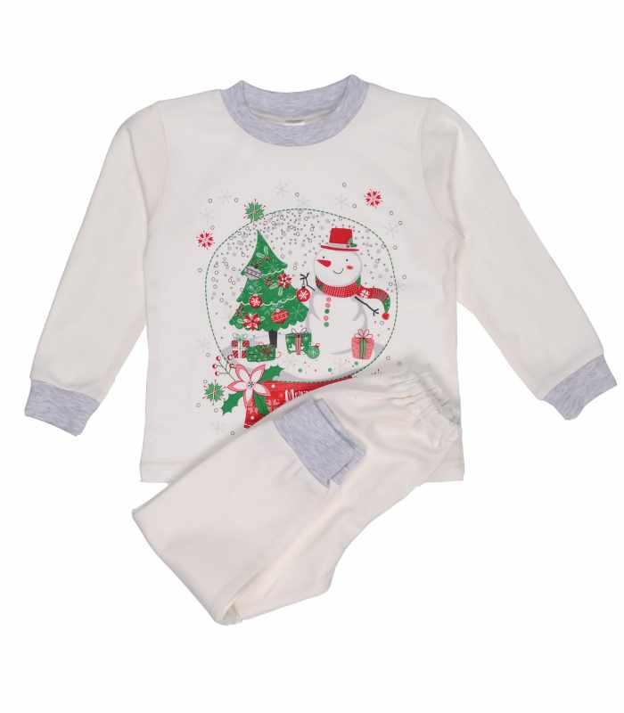 Детская пижама утепленная Снеговик