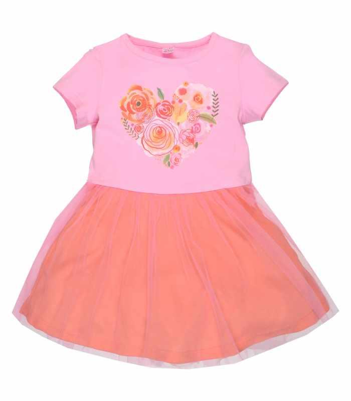 Платье сердечко персик