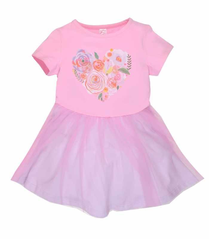Платье сердечко розовый