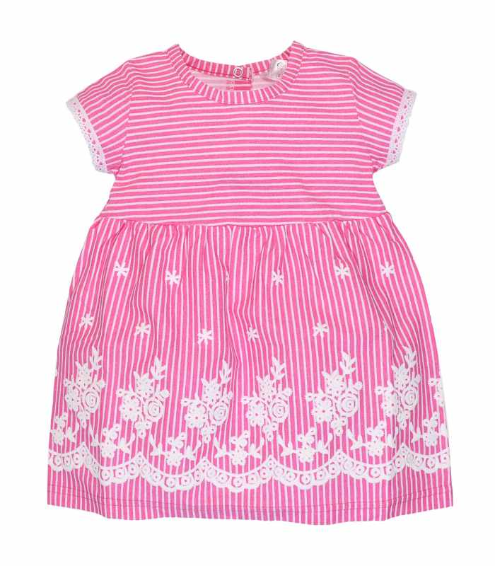 Платье розовая полосочка