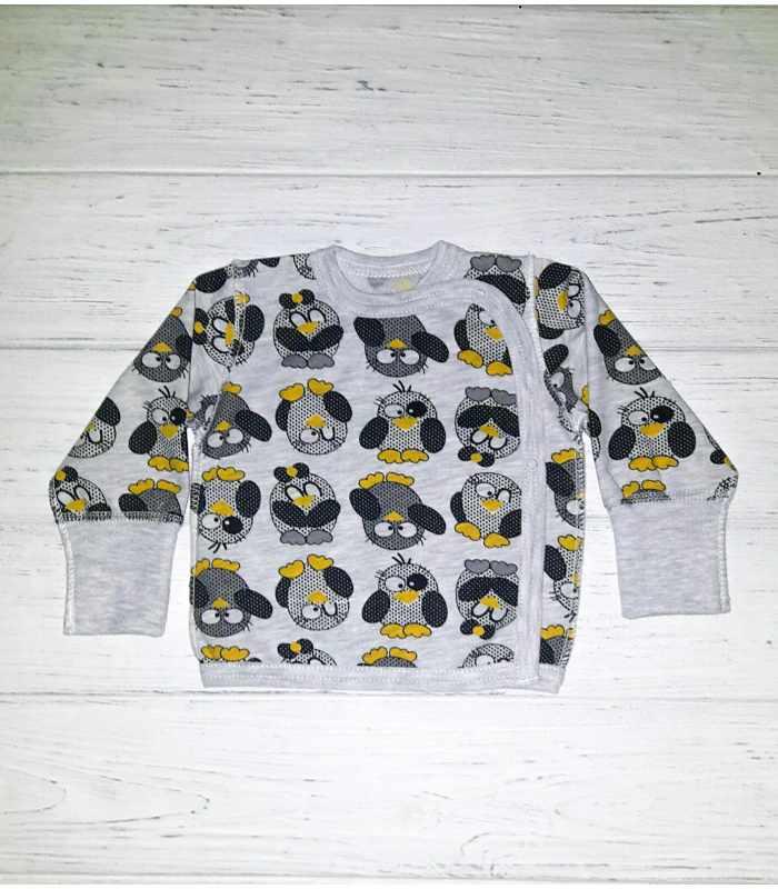 Распашонка утепленная Пингвины