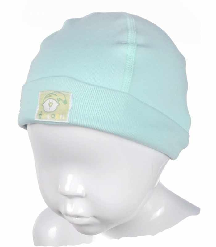 Детская шапочка с подчесом Мятный М