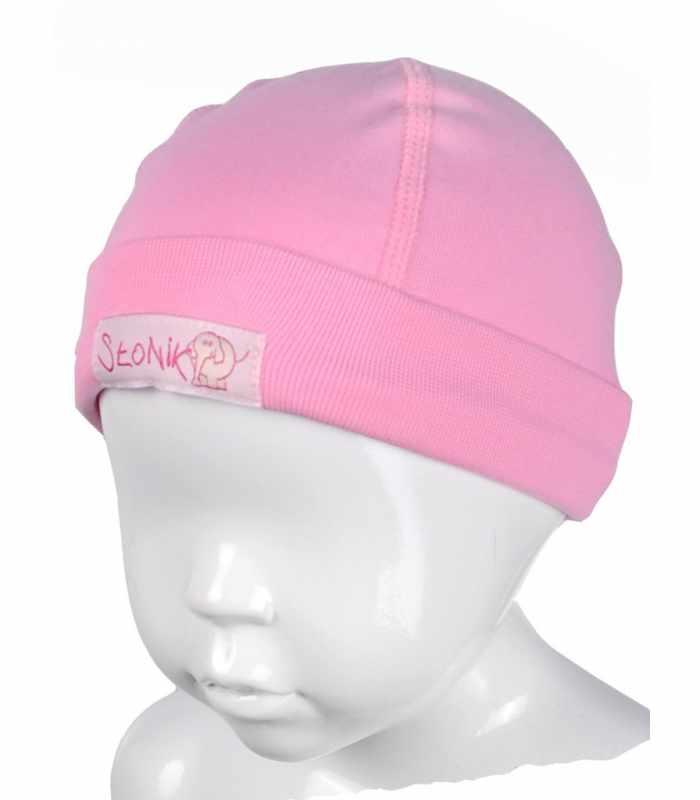 Детская шапочка с подчесом Розовый М