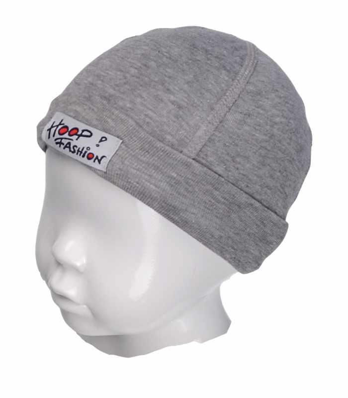 Детская шапочка с подчесом темносерый С