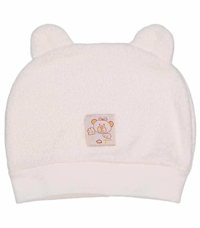Детская шапочка махра молочный