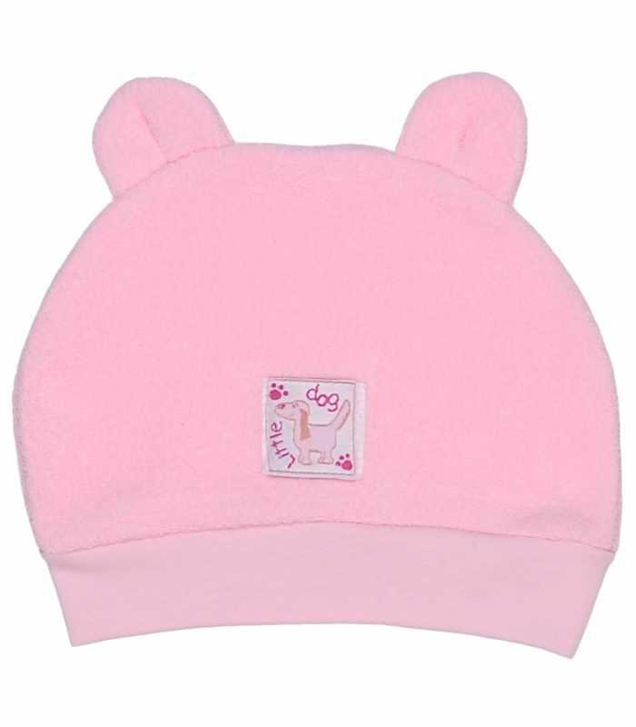Детская шапочка махра розовый